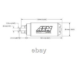 AEM 50-1200 High Flow E85 340LPH In-Tank Fuel Pump with Install Kit Same Day Ship