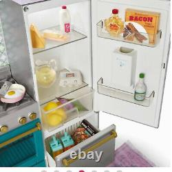 American Girl Gourmet Kitchen Set Refrigerator with Ice maker SAME DAY SHIP NEW
