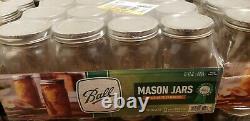 Ball Wide Mouth Quart Canning Mason Jars, Glass 32 Oz, 12 Pk Same Day Ship