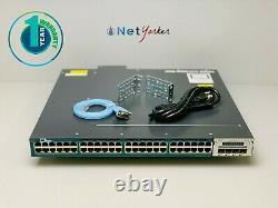 Cisco WS-C3560X-48PF-L 48 Port PoE+ Gigabit Switch SAME DAY SHIPPING