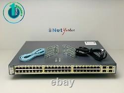 Cisco WS-C3750G-48PS-S 48 Port PoE 3750G Gigabit Switch SAME DAY SHIPPING