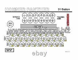 Hohner Panther FBE Pantera NEW Acordeon Accordion FA +Strap, TShirt SAME DAY SHIP