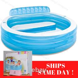 Intex Inflatable Family Lounge Pool Swim Center Adult Kid Round SHIPS SAME DAY