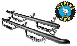 Nerf Bars with Step for Jeep JKU Wrangler Unlimited, 90764, FREE SAME DAY SHIP