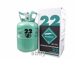 New R-22 Virgin Refrigerant FACTORY SEALED 10 LB. FREE SAME DAY Shipping by 3pm