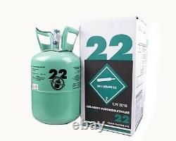New R-22 Virgin Refrigerant FACTORY SEALED 15 LB. FREE SAME DAY Shipping by 3pm