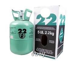 New R-22 Virgin Refrigerant FACTORY SEALED 5 LB. FAST SAME DAY SHIPPING