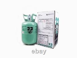 New R-22 Virgin Refrigerant FACTORY SEALED 5 LB. FREE SAME DAY SHIPPING