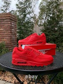 Nike Air Max 90 Triple Red Men's University Red (CZ7918 600) SHIPS SAME DAY