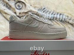 Nike x Stussy Air Force 1 Low Fossil Size 9.5 IN HAND SAME DAY SHIP