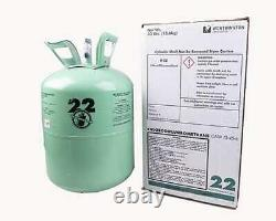 R-22 Virgin Refrigerant 30 lb. FACTORY SEALED FREE SAME DAY SHIPPING BY 3PM