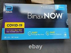 SAME DAY SHIP Abbott BinaxNOW Home Self Test 2 per box LOT OF 5 Boxes 10 Tests