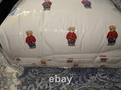 SAME DAY SHIPPINGRalph Lauren Boy Polo Bear King Size Comforter