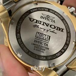 SHIPS SAME DAY Invicta 27175 Reserve Marvel Men's 52mm Venom LE- Iron Man Rare