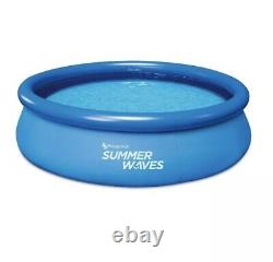Summer Waves 10ft x 30in Inflatable Ring Set Pool With Filter Pump SAME DAY SHIP