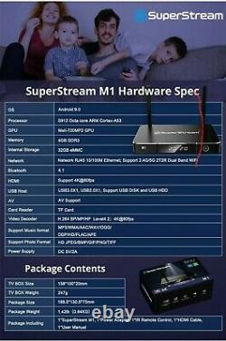 SuperStream M1 High Performance Box With 4/32Gb New Seal Packag SameDay Shipping