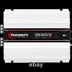 TARAMPS DS 800x2 AMPLIFIER 2 OHMS 800W RMS USA DEALER SAME DAY SHIPPING