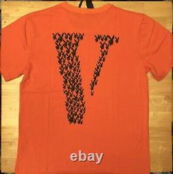 Vlone x Playboi Carti Orange T-shirt Size L Large Ships Same Day