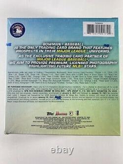 (1) 2020 Bowman Chrome Baseball Mega Box Factory Sealed Livraison Gratuite Du Même Jour