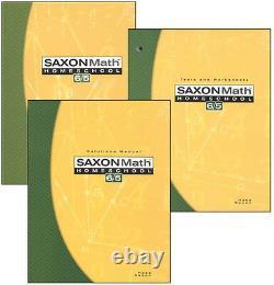 Maths Saxons 65 3 Ed. Homeschool Home Study Kit Nouvelle 5e Année 6/5 Nouveau! Navire Du Même Jour