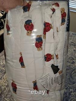 Même Jour Shippingralph Lauren Boy Polo Bear King Size Comforter
