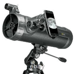 National Geographic 114mm Reflecting Telescope Black Same Day Shipping