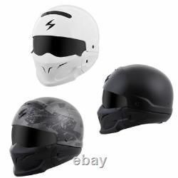 Navires Same Day Scorpion Covert Motorcycle Helmet 3 En 1 (toutes Les Couleurs)