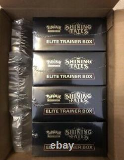 Navires Same Dayin Hand Pokemon Shining Fates Elite Trainer Box Etb (lot Of 4)