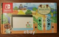New Nintendo Switch Animal Crossing New Horizons Edition Console Same Day Ship