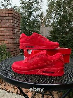 Nike Air Max 90 Triple Red Men's University Red (cz7918 600) Navires Same Day