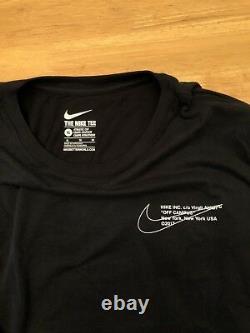 Nike X Off-white Campus Logo Manches Longues T-shirt Taille M-xl Expédie Le Même Jour