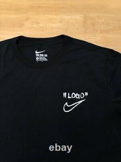 Nike X Off-white Campus Logo Tee Taille M-2xl Expédie Le Même Jour