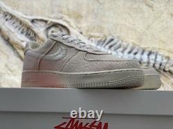 Nike X Stoughsy Air Force 1 Faible Taille Fossile 9.5 En Niveau Du Même Jour