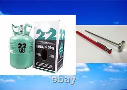 Nouveau R-22, R22, Réfrigérant 22, Usine Fraîche Scellée, 10 Lb, Niveau Gratuit Du Même Jour
