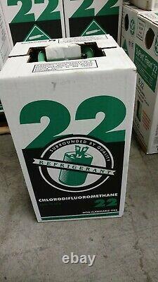 Nouveau R-22 Virgin Réfrigérant Factory Seeled 5 Lb. Exposé Du Même Jour