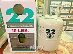 Nouveau, R22 Réfrigérant 10 Lb Usine Scellée Fabriqués Aux États-unis, Livraison Gratuite Le Même Jour