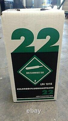 Nouveau Réfrigérant R22 10 Lb. Usine Scellée Fabriquée Aux États-unis Livraison Gratuite Du Jour