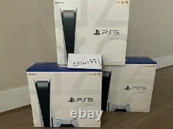 Nouveau Sony Playstation 5 Ps5 Console Disque Version Dans La Main Jour Même Expédition