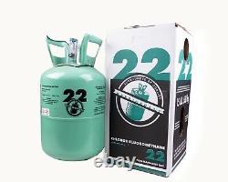 Nouvelle R-22 Virgin Refrigerant Factory Scellé 15 Lb. Livraison Gratuite Le Même Jour Avant 15h