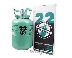 Nouvelle R-22 Virgin Refrigerant Factory Scellé 5 Lb. Livraison Gratuite Le Jour Même