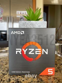 Processeur De Bureau Amd Ryzen 5 5600x 6-core 12-thread Avec Cooler Same Day Ship