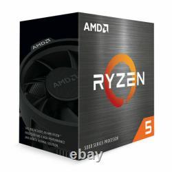 Processeur De Bureau Amd Ryzen 5 5600x 6-core De 12 Threads Avec Des Navires Plus Frais Le Même Jour