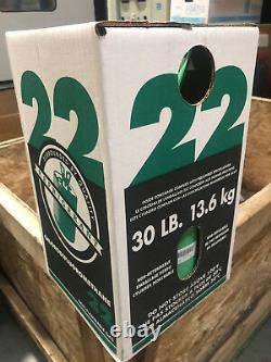 R-22 Réfrigérant 30lb, Etats-unis, Nouvelle Bouteille Scellée Livraison Gratuite Le Même Jour À Cont Us