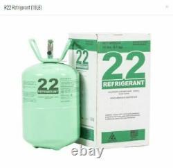 R22 Nouveau Réfrigérant 10 Lb. Usine Scellée Virgin Pure USA Même Jour