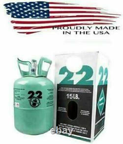 R22 Réfrigérant 15lb Cylindre, Factory Sealed Virgin 22 Navires Le Même Jour