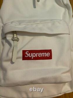 Supreme Box Logo Canvas Sac À Dos Blanc Fw20 Livraison Gratuite Le Jour Même