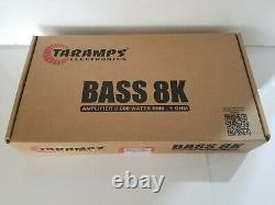 Taramps Basse Amplificateur 8k 8000 Watts Rms Mono 1-ohm Livraison Gratuite Le Même Jour