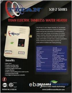 Titan Tankless N-120 Hot Water Heater 220v Avec Expédition Gratuite Le Jour Même. Nouveau