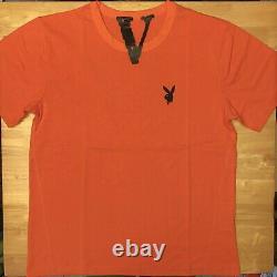 Vlone X Playboi Carti Orange T-shirt Taille L Large Ships Le Même Jour