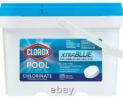Xtrablue Pool & Spa Clorox Chlorine Tabs (tablettes) 25lb Bucket, Le Même Jour Navire